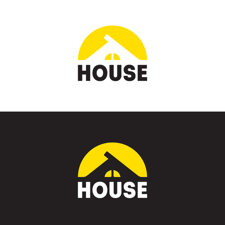 sign on the theme of the construction of a modern house, country house, cottage