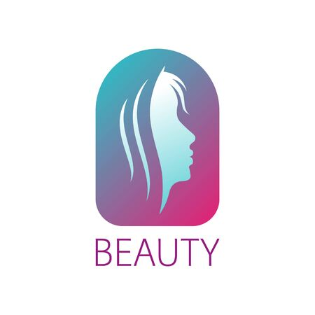 Sign profile of a girl, for a beauty salon, beauty industry Vectores