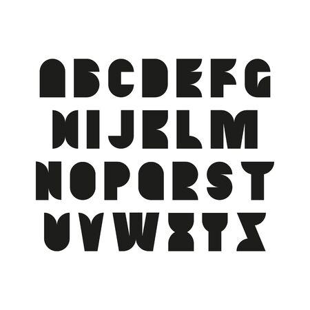 simple decorative font, capital letters, simple form