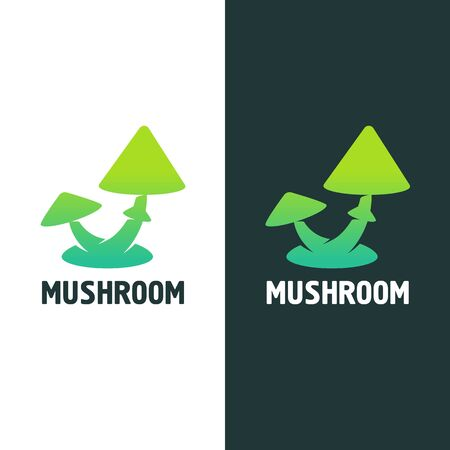 mushrooms sign on a light and dark background