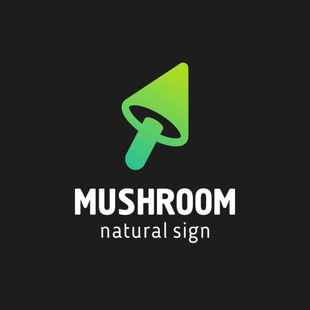 sign mushrooms in a modern style Vectores