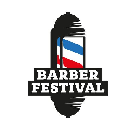 Sign for the barber festival, Barber Pole
