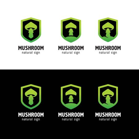 sign mushrooms in a modern style Illustration