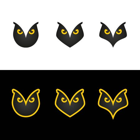 Sign of an owl, for school or as a character, face of an owl