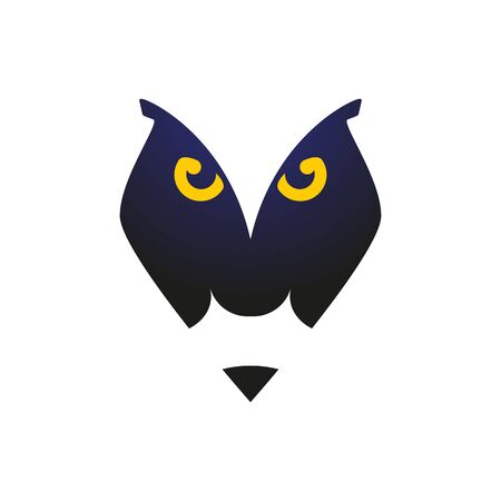 Sign owl with a pencil, for school or studio, a children's sign Banque d'images - 133429440