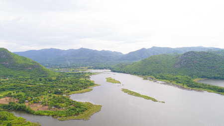 Kanchanaburi, Thailand. khwae river surrounded with nature, environment homestay and people.
