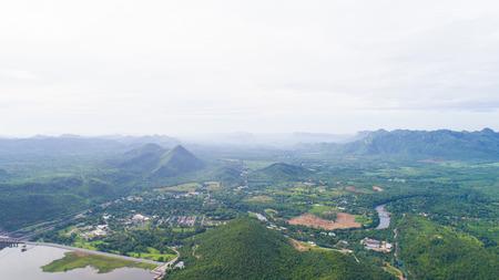 Tha Thung Na dam, Kanchanaburi, Thailand, July 2016 : dam generate electricity. surround with mountains, water, village, homestay and villages. Redakční