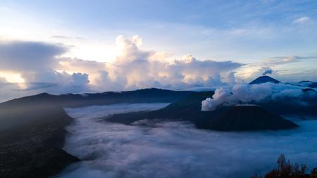 Aerial shot of Mount Bromo Volcano during sunrise, in East Java, Indonesia Reklamní fotografie