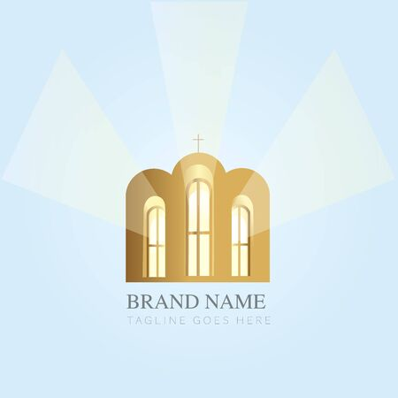 Church Design. Creative Church Christian Icon