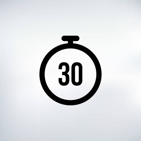 30 seconds Countdown Timer icon set. time interval icons. Stopwatch and time measurement. Stock Vector illustration isolated on white background. Vektorové ilustrace