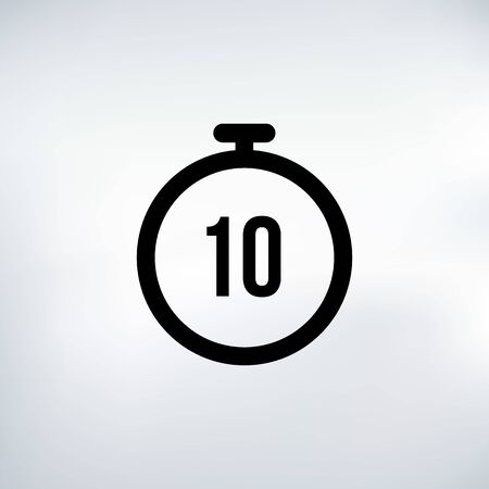 10 seconds Countdown Timer icon set. time interval icons. Stopwatch and time measurement. Stock Vector illustration isolated on white background. Ilustración de vector