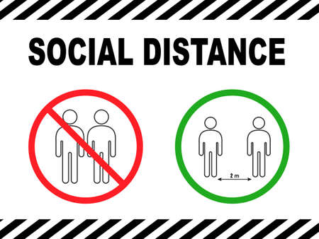Social Distancing 1 Meter Infographic Icon. Gray icon Vector NEW