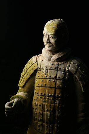 Guerrieri di terracotta cinesi Archivio Fotografico - 3073090