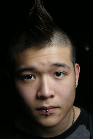 Asian youth with pierced lips Stock Photo - 3134477