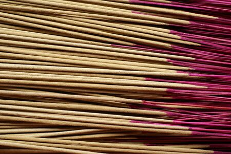 Asian prayer joss sticks closeup Stock Photo - 4018312