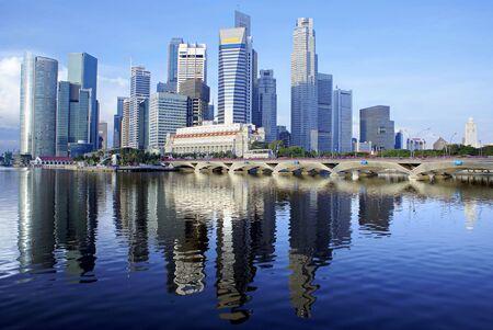 singapore city: Singapore city daytime skyline