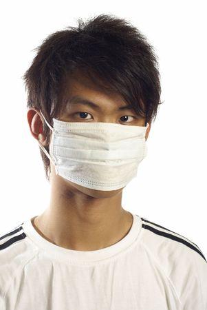 medical mask: El hombre de Asia con el retrato de la m�scara de m�dicos