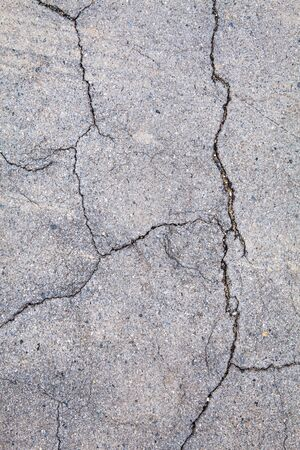 road surface: road surface crack Stock Photo