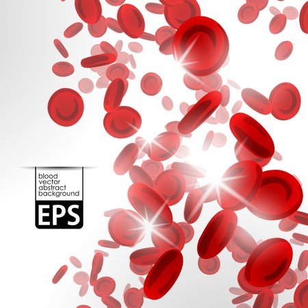 blood cells: background with red blood cells