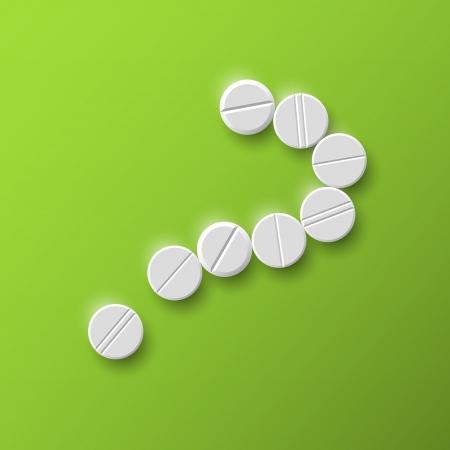 vraagteken van de pillen