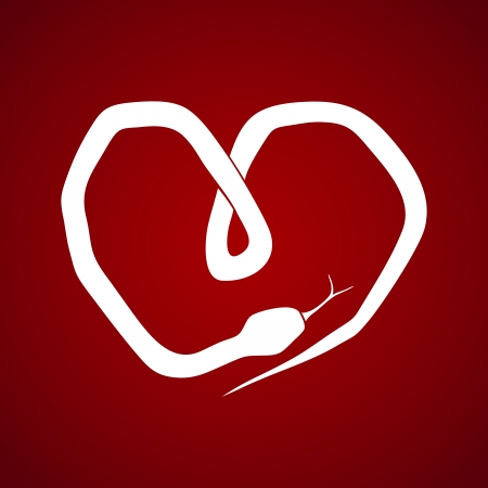 snake in the form of a heart Stock Vector - 17984803
