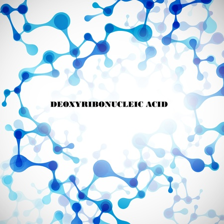 macromolecule: beautiful structure of the DNA molecule Illustration