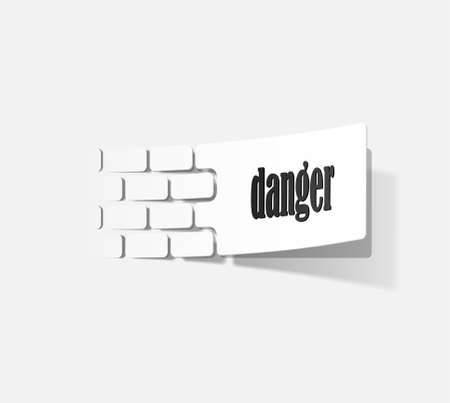 sign warning in the form of stickers Stock Vector - 18163886