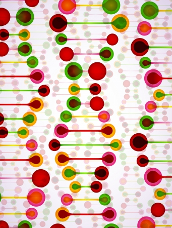 beautiful structure of the DNA molecule Stock Vector - 18318773