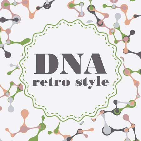 vintage structure of the DNA molecule Stock Vector - 18318750