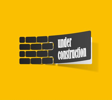 under construction sticker Stock Vector - 18361192