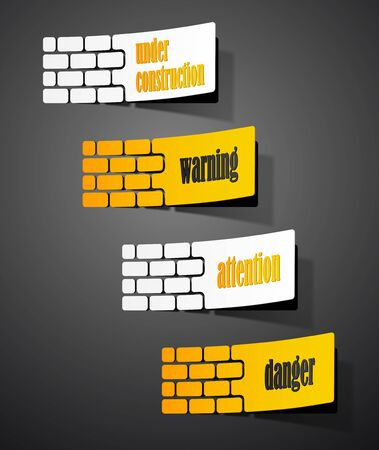 collection sign warning in the form of stickers Stock Vector - 18361430