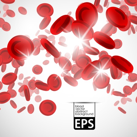 background with red blood cells Vector