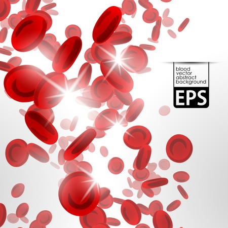 achtergrond met rode bloedcellen