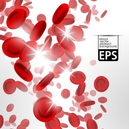 sfondo con i globuli rossi Vettoriali