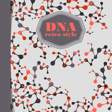vintage structure of the DNA molecule Stock Vector - 18361264