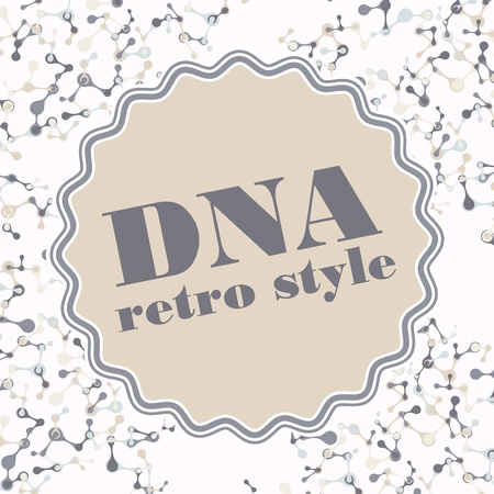 vintage structure of the DNA molecule Stock Vector - 18361140