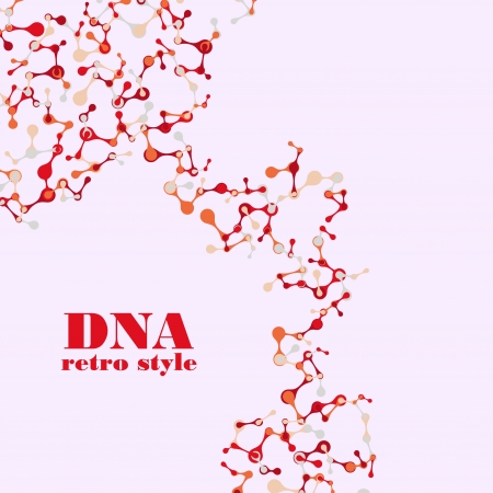 vintage structure of the DNA molecule Stock Vector - 18361075