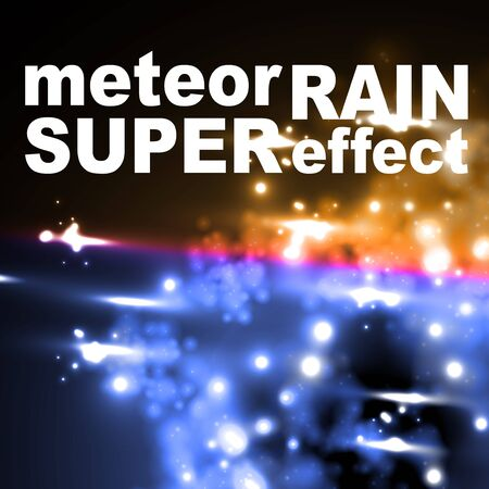 meteor rain in neon style Stock Vector - 18361441