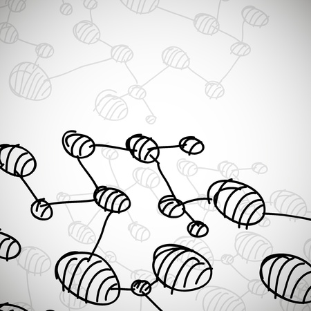 hand drawn DNA molecule Vector