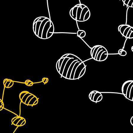 hand drawn DNA molecule Stock Vector - 18361283