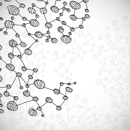 hand drawn DNA molecule Stock Vector - 18361281