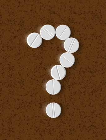 question mark of the pills Vector