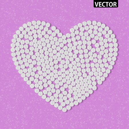 Heart of pills Stock Vector - 18361446