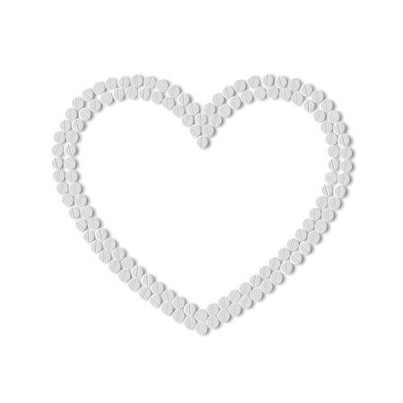 Heart of pills Stock Vector - 18361291