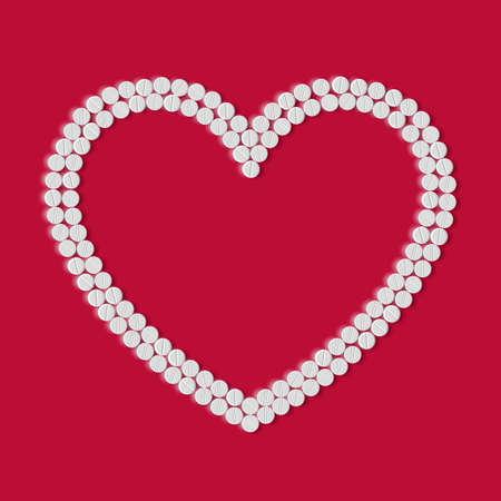 Heart of pills Stock Vector - 18361345