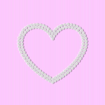 Heart of pills Stock Vector - 18361464