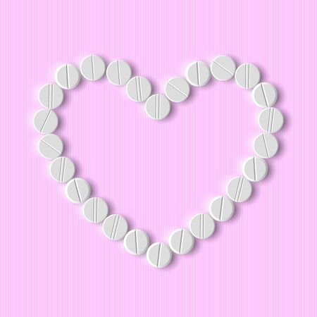 Heart of pills Stock Vector - 18361367