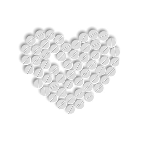 Heart of pills Stock Vector - 18361292