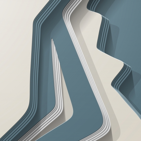 bookmark background: 3D style, abstract background with lots of layers