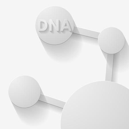 molecular structure in 3D style, of planar elements Ilustração